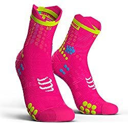 Compressport Calcetines Pro Racing Socks V3.0 Run High Rosa Fluor - T4