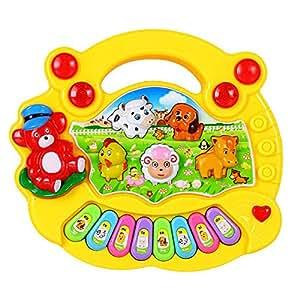 Seguryy - Jouet Musical - Piano pour bébé (jaune)