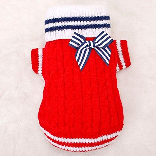 Valoxin(TM) Vestiti del cane Nuovi 2016 maglioni di Natale per i cani Piccoli animali vestiti rossi cappotti del cane vestiti di marca cotone lavorato a maglia Abbigliamento HP248