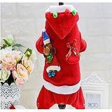 Jiobapiongxin Modelli Femminili di Abbigliamento da Babbo Natale in Velluto di Cotone Caldo di Piccola Taglia JBP-X