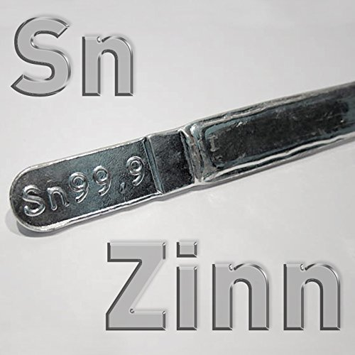 Zinnbarren Sn 99,9%, 400g, reines Zinn bleifrei in Stücken, Stangenlötzinn