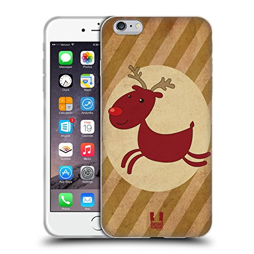 Head Case Designs Babbo Natale Classici Di Natale Cover Morbida In Gel Per Apple iPhone 7 Plus / 8 Plus Rudolph