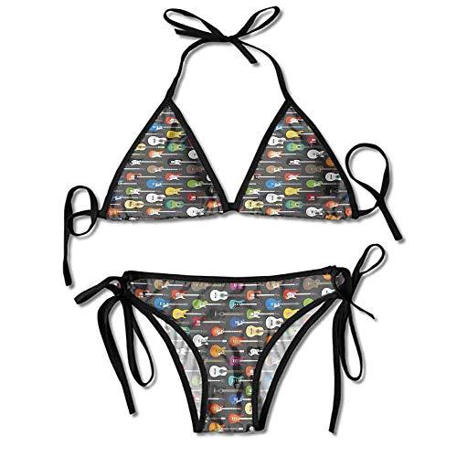 KAKALINQ Custom Bikini Zone Bikini Creme Creativity Writing Songs Printing Bikini (Songs Halloween Top 10)