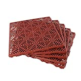 1 Pack (5 Pieces) Terracotta Garden Non Slip Interlocking Path Tiles - KCT Home - amazon.co.uk