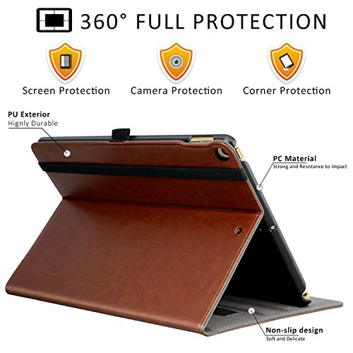 Ztotop New IPad 97 Inch 20182017 Case Premium Leather Business Stand Folio Cover For New 20182017 Apple Tablet
