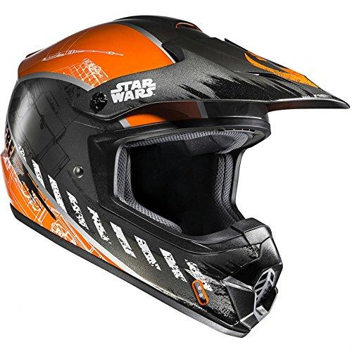 CX2XWM - HJC CS-MX II Rebel X-Wing Star Wars Motocross Helmet M Black Orange (MC7)