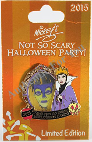 Disney Parks 2015 mnsshp Halloween Party Evil Queen Magic Mirror Trading Pin Limited Edition LE 5550 (Mirror Halloween-magic Disney)