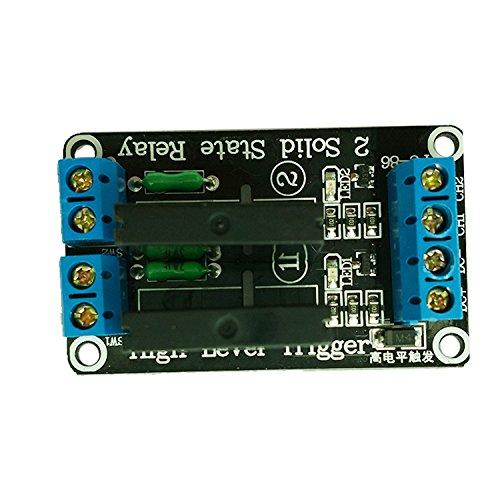 Ecloud Shop® 2-Kanal-5V OMRON SSR Solid State Relais-Board für Arduino Uno Duemilanove MEGA2560 MEGA1280 ARM DSP PIC