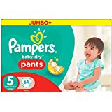 Pampers - Baby-Dry Pants - Couches Taille5 (12-18 kg /Junior) - Jumbo+ (x64 couches)
