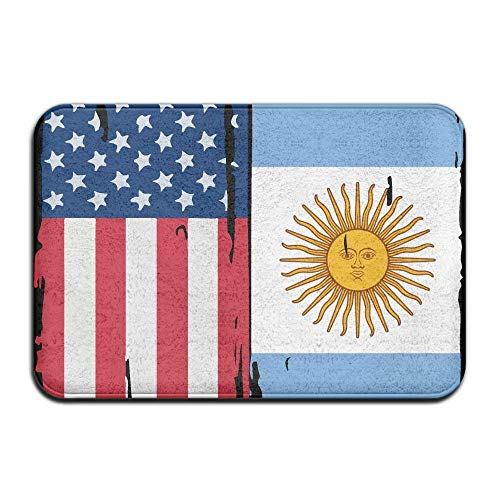 Indoor/Outdoor Absorbs Mud Doormat with American Argentina Flag Pattern for Kitchen Bathroom area rugs entry rug (Boot Dodger)