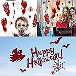 V-RULE Halloween Dekoration Set- Zombie Scars Temporäre Tattoos (11 Blatt) - Halloween Blut Drucke Fenstersticker…