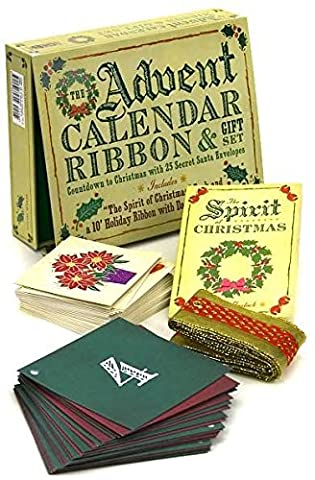 The Advent Calendar Ribbon and Gift Set: Countdown to Christmas with 25 Secret Santa Envelopes