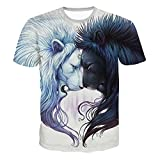 Mymyguoe Männer Kurz Tops 3D gedruckt Running-Shirts für Herren Kurze Ärmel Hemden Fun-T-Shirts Freizeitshirt Sportswear Outdoor Running T-Shirts Business Hemden Sweatshirts Lässiges T-Stück