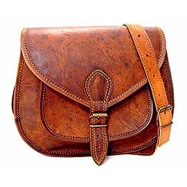 16″ Black Dual Pocket Buffalo Bag Hunter leather Hand Made Buffalo Messenger Briefcase Office bag laptop bag