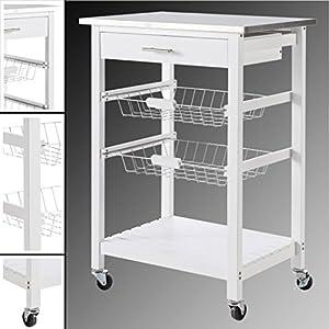 Küchenwagen Weiß Schmal | Deine-Wohnideen.de | {Küchenwagen schmal weiß 24}
