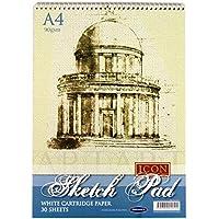 Premier Stationery Icon: Cuaderno de espiral de 90 g/m², A4, 30 hojas, bloc de dibujo