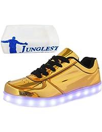(Present:kleines Handtuch)Gold EU 44, Sport Farbe USB 7 Schuhe JUNGLEST® mode für Aufladen Damen Unisex Turnschuhe Herren Glow Tanzen Leucht