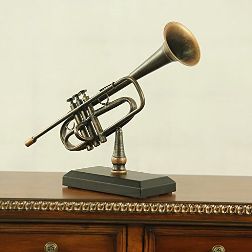 PRIDE S Gioielli Ferro Crafts Living Room Furniture Cabinet Office Desktop Retro piccoli ornamenti ornamenti - Trombone