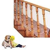 Red de seguridad para protección infantil, Malla de seguridad ajustable para balcones de escaleras o patios, 3M (blanco & gris)