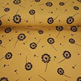 Muster Jersey Baumwolljersey Meterware mit Pusteblume