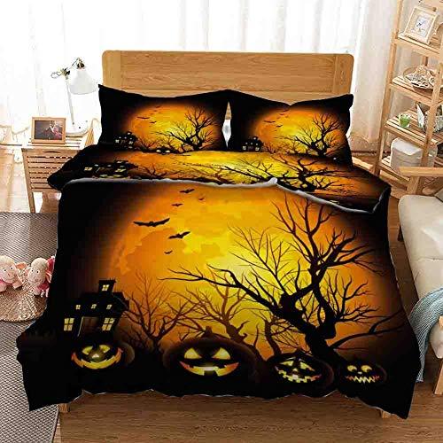 Funda nórdica de Halloween Funda de edredón de bruja y ropa de cama de Halloween Juego de funda nórdica...