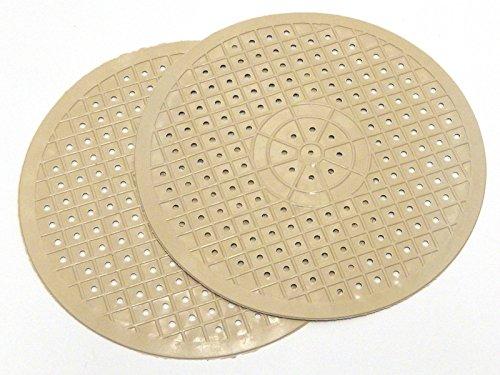 Durable 2x Round Rubber Sink Basin Mat scratch damage glass protector anti slip