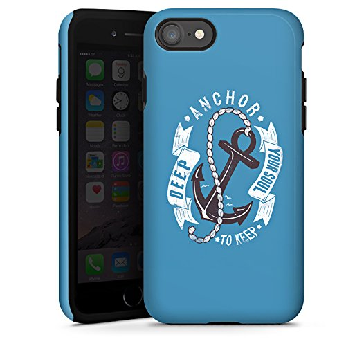 Apple iPhone X Silikon Hülle Case Schutzhülle Anker Seefahrer Maritim Tough Case glänzend