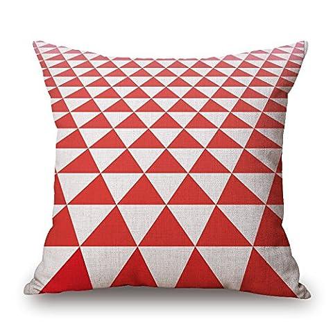 Bestseason Pillowcase/Kissenbezüge 20 X 20 Inches / 50 By 50 Cm(2 Sides) Nice Choice For Boy Friend,teens,dining Room,bedding,valentine Geometric