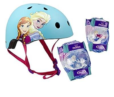 Disney Frozen Mädchen 318 Helmet + 2 Set Pads, Blue, S