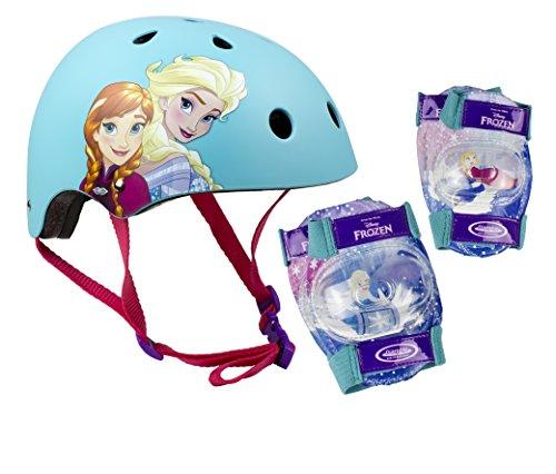 Disney Frozen Mädchen 318 Helmet + 2 Set Pads Blue S
