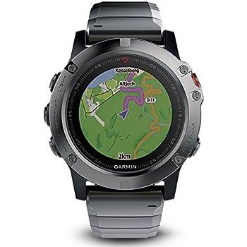 Garmin Fenix 5X Sapphire 010-01733-03, Reloj inteligente multideportivo con GPS , Gris (Black, Grey)
