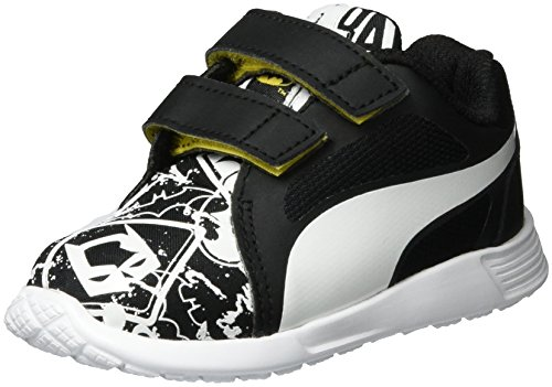Herren Schuhe Batman (Puma Unisex-Kinder Batman ST Trainer Evo Street V Inf Low-Top, Schwarz (Black White 01), 26)