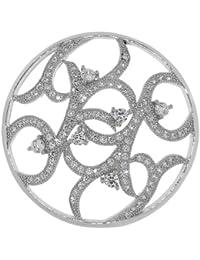 MY iMenso imaginación compás insignia plateado zirconia blanco 33 mm 33-1043
