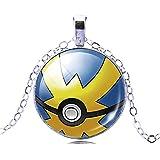 Pkmn - Bola De Collar De Pokemon Ir Meter 'Pokeball En 6 Colores Para Elegir (Azul-Amarillo)