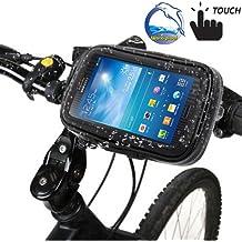 ElettrOutlet-Soporte y funda impermeable para bicicleta y moto para Samsung Galaxy Note 3 N9000 y N9005
