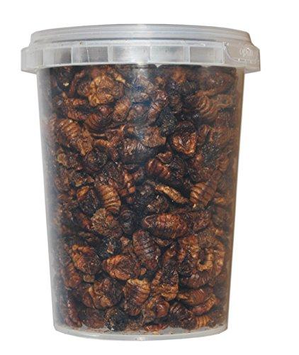 500 ml Seidenraupenpuppen / Silkworm gefriergetrocknet gefriergetrocknete / getrocknet | Reptilienfutter, Schildkrötenfutter, Futtertiere Igelfutter Vogelfutter / Seidenraupen Koifutter Fischfutter