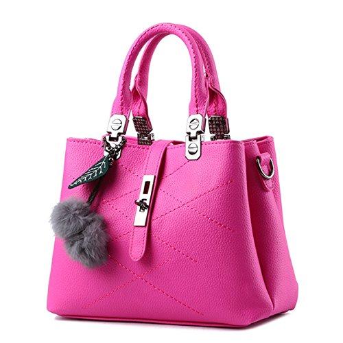 Flada, Borsa a tracolla donna viola Light Purple medium Rosy