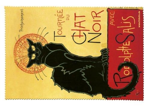 Fridolin 18896Katze schwarz Reinigungstuch für Brille Chiffon Mehrfarbig 18x 12,5x (Katze Brillen)