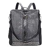 Zaino da Donna Elegante Borse a Spalla Casual Borse a Tracolla universitá Bag Impermeabile Schoolbag Grandi Zaino per Viaggio (M, Argento)