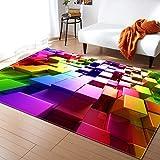 Seasons Shop Tappeto Soggiorno Moderno con Tappetino Antiscivolo colorato 3D Tappeto per Decorazioni per la casa, 39x58.5inch