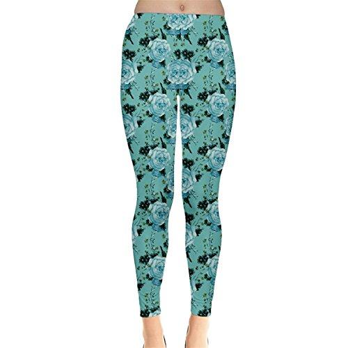 CowCow - Legging - Femme Rose Corail Vert - Menthe