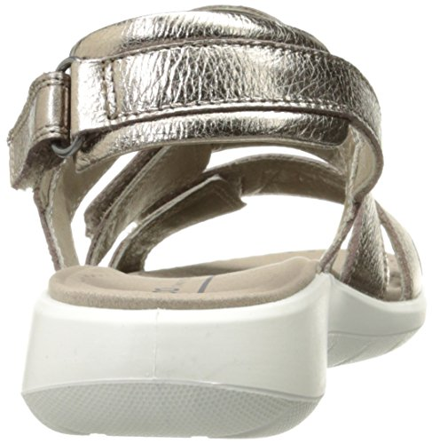 Ecco Damen Soft 5 Sandal Offene Keilabsatz Grau (1375WARM GREY)