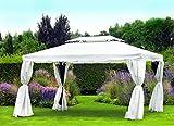 Profiline Luxus Pavillon Hemera, UV-Schutz 50 PLUS, inkl. aller Seitenteile und Fliegengitter, 300 x 400 cm, 452467