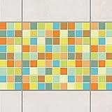 Fliesen Bordüre - Mosaikfliesen Sommerset 10cm x 10cm, Setgröße:4teilig