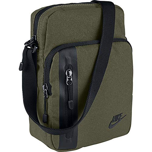 Nike Nk Tech Small Items, Besaces mixte adulte, Multicolore (Olive Canvas/Black B), 8x15x20 cm (W x H L)