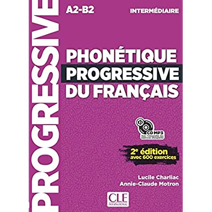 Phonétique progressive du français - Niveau intermédiaire - Livre + CD - 2ème édition - Nouvelle couverture