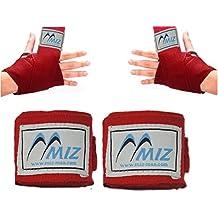 Boxeo Mano Wrap MAXICAN Muay Thai guantes interiores vendas de muñeca pantalla, rojo