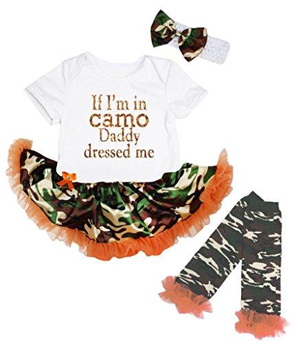 Petitebelle Baby Mädchen (0-24 Monate) Body weiß weiß Gr. S, weiß (Baby-camo)