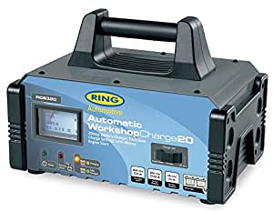 Ring Automotive RCB320 Fully Auto Battery Charger/Engine Start Metal Case, 12 V, 20/80 A