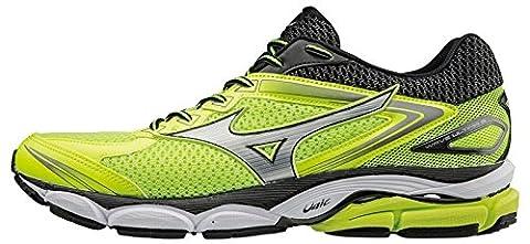 Mizuno Wave Ultima, Chaussures de Running Homme, Multicolore (Safetyyellow/Silver/Black), 45 EU